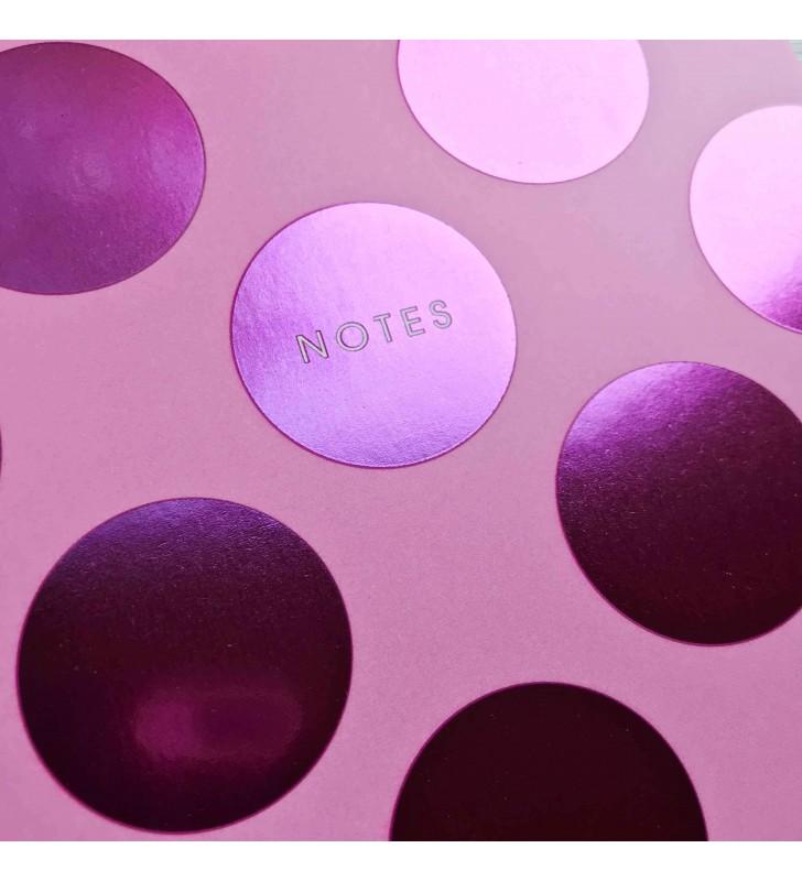 """Мини-блокнот на склейке """"Notes"""" малиновый"""