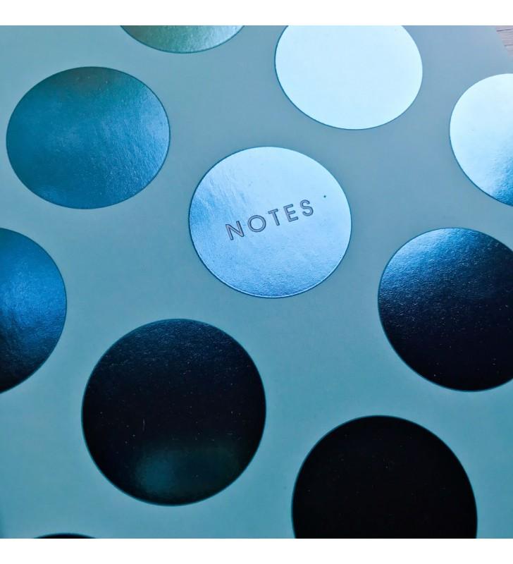 """Мини-блокнот на склейке """"Notes"""" голубой"""