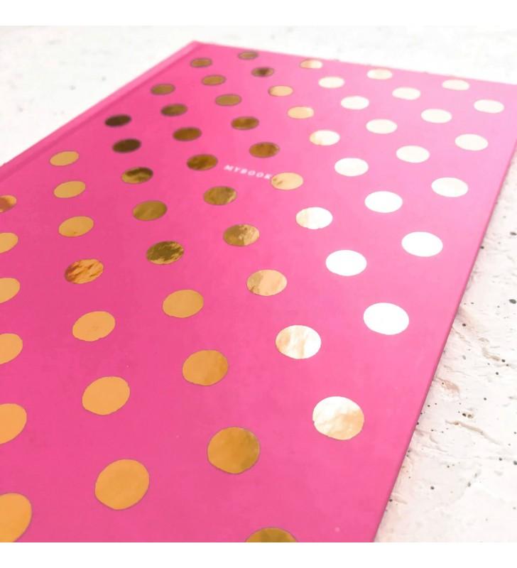 """Блокнот в клеточку """"Pink dots"""""""