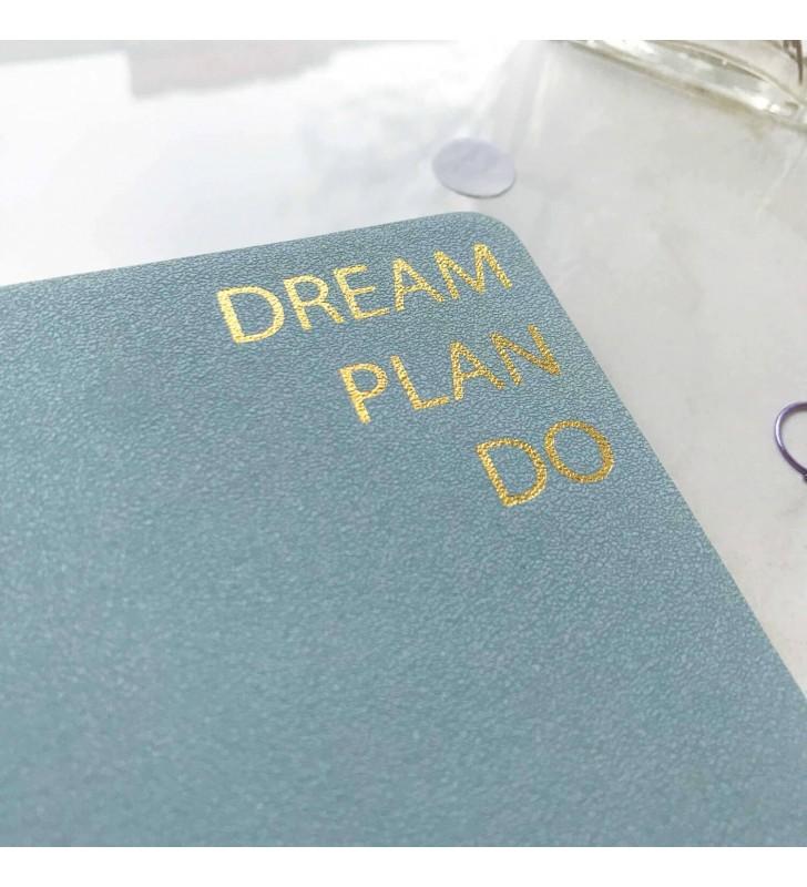 """Блокнот в клеточку """"Dream, plan, do"""""""