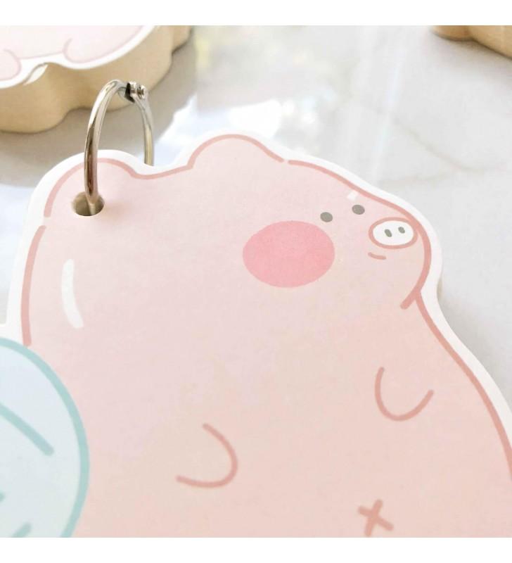 """Мини-блокнот на кольце """"Piggi"""" 2"""