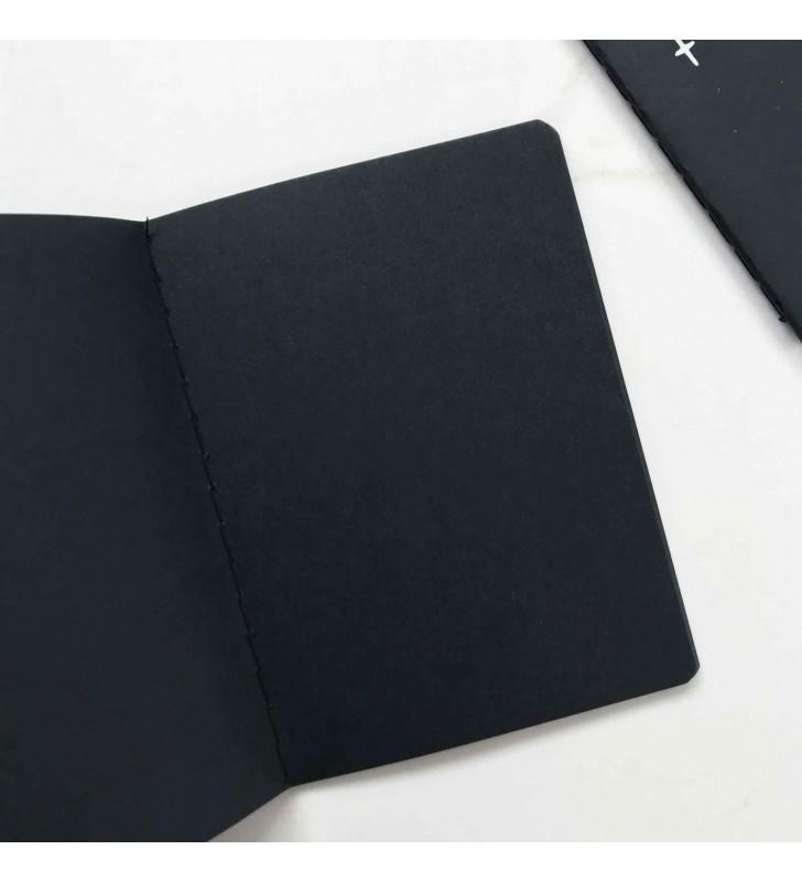 """Мини-блокнот """"Arrow"""" с черными страницами"""