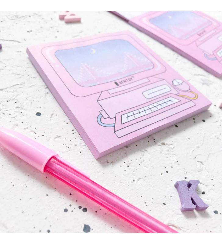 """Блокнот для заметок """"Розовый компьютер"""""""