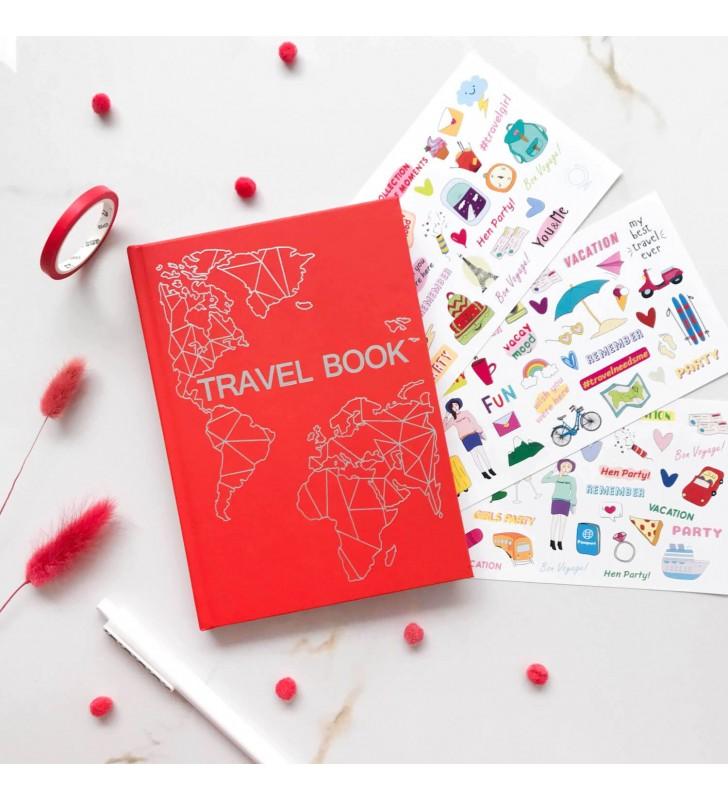 """Тревелбук """"Travel Book"""" red"""