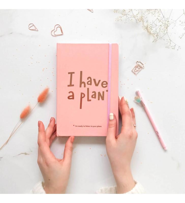 """Недельный планер """"I have a plan"""" А5  коралловый"""