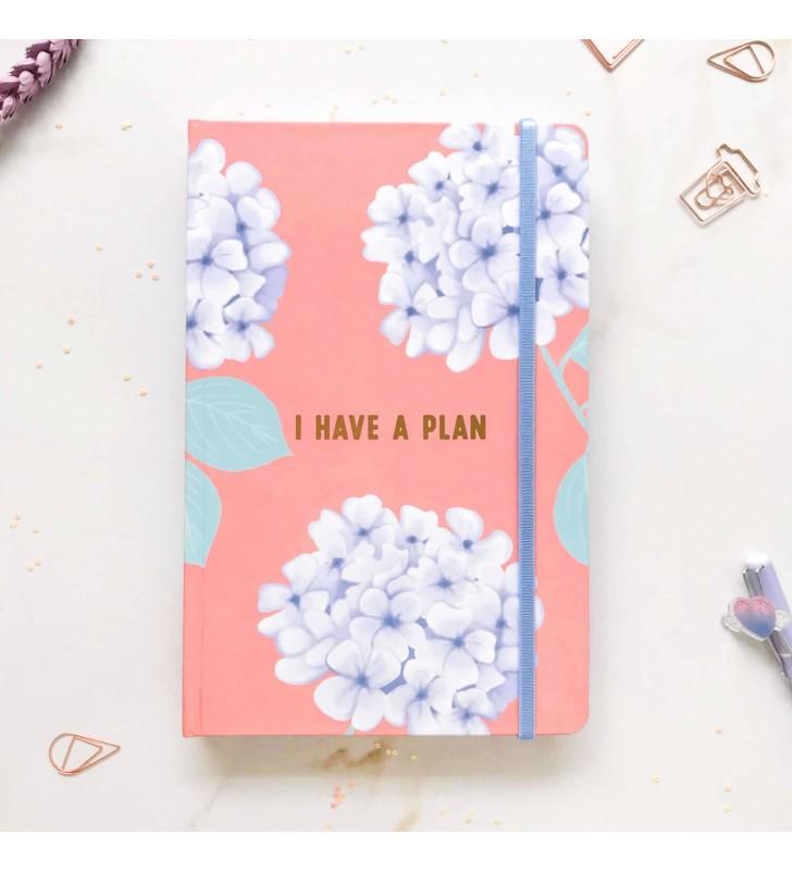 """Недельный планер """"I have a plan"""" А5 с гортензиями"""