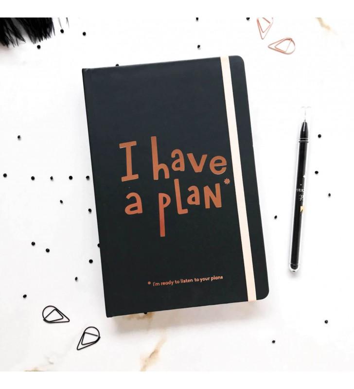 """Недельный планер """"I have a plan"""" А5 чёрный"""
