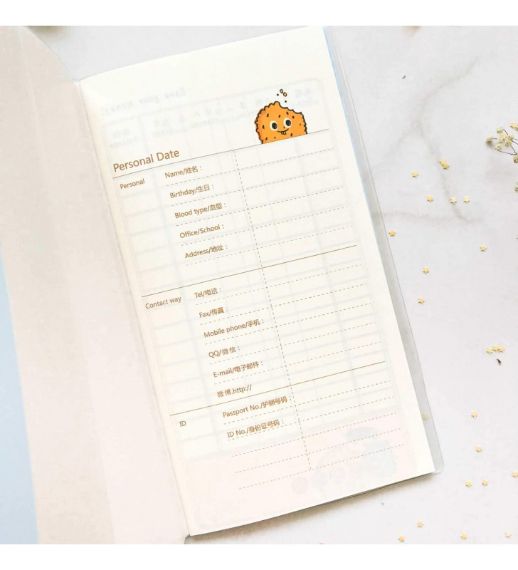 "Cash Book ""Sweet"" yellow"
