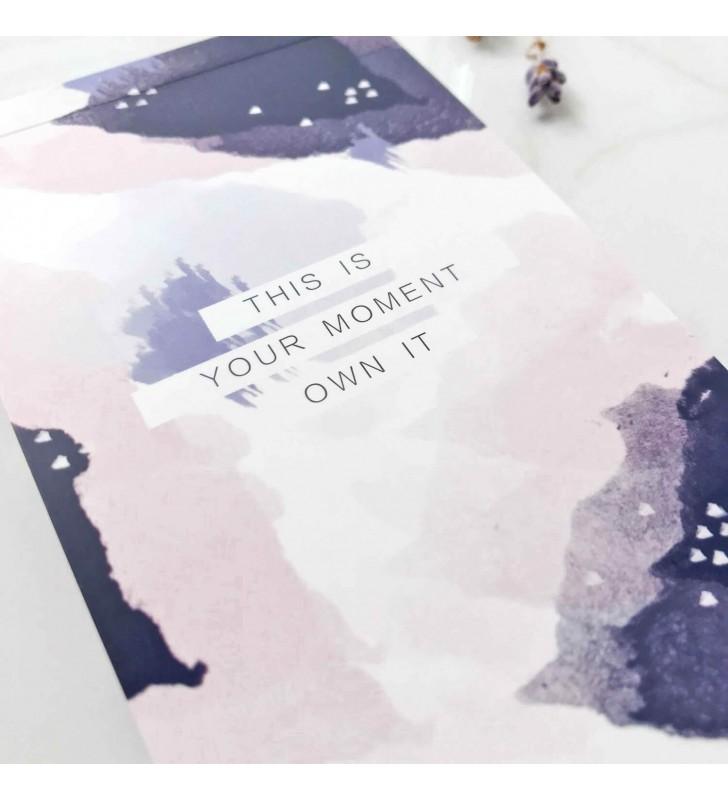 "Блокнот для заметок ""This is your moment"" фиолетовый"
