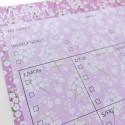 """Настольный планер """"Weekly schedule"""" pink flowers"""