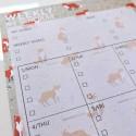 """Настольный планер """"Weekly schedule"""" fox"""