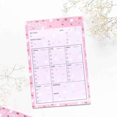 """Настольный планер """"Weekly schedule"""" rabbit"""