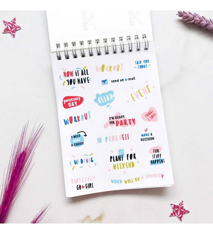 """Стикербук """"Sticker by sticker"""" розовый"""
