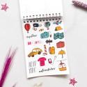 """Стикербук """"Sticker by sticker"""" лавандовый"""