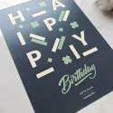 """Открытка """"Happy Birthday"""" blue"""