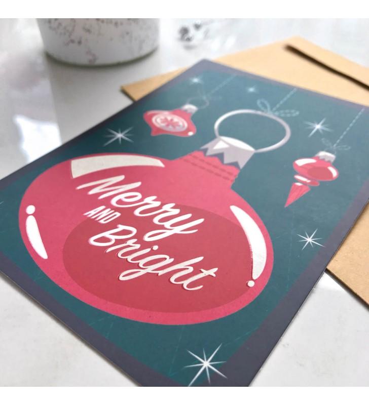 """Открытка """"Retro winter"""" Red Christmas ball"""