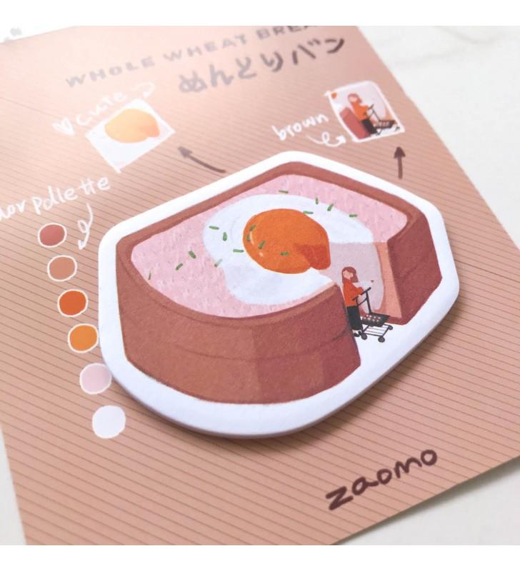 """Стикеры """"Вкусняшки"""" яйцо в хлебушке"""