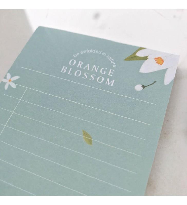 "Блокнот для заметок ""Plants"" orange blossom"