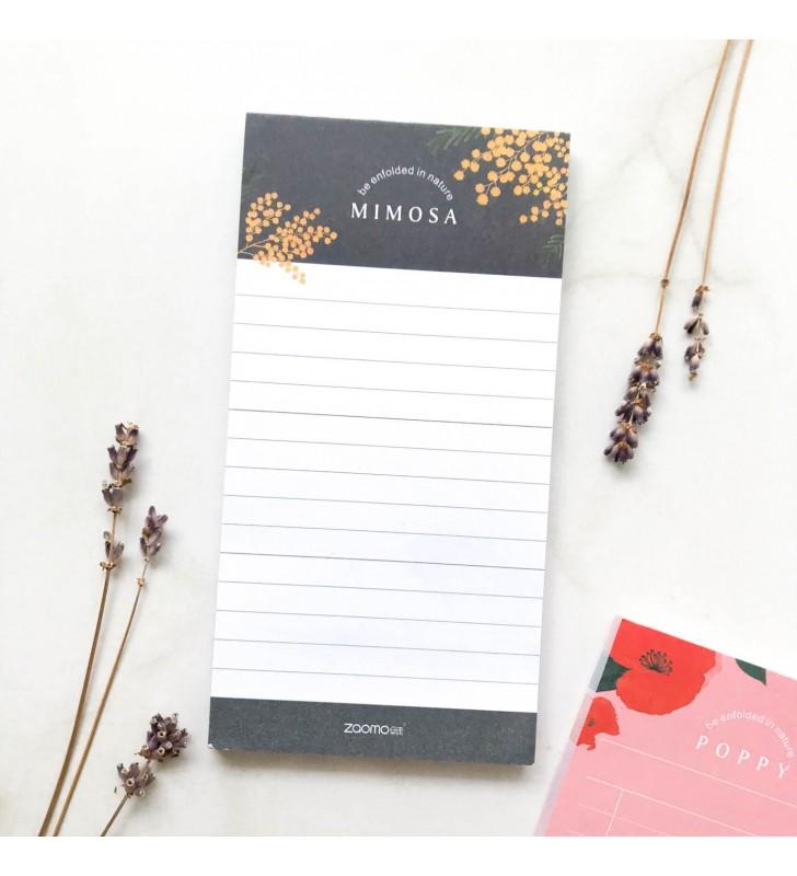 """Блокнот для заметок """"Plants"""" mimosa"""
