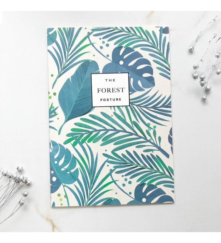 "Блокнот в линию ""The forest"" монстера"