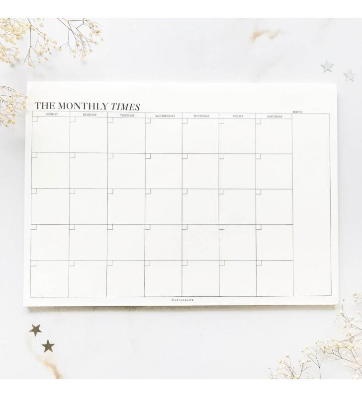"""Настольный планер """"The monthly times"""""""