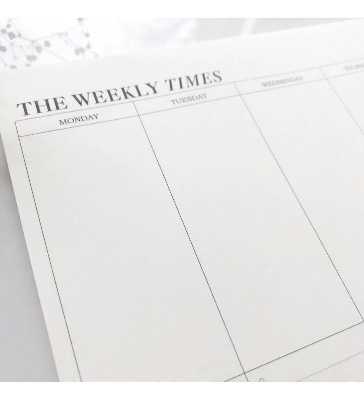 """Настольный планер """"The weekly times"""""""