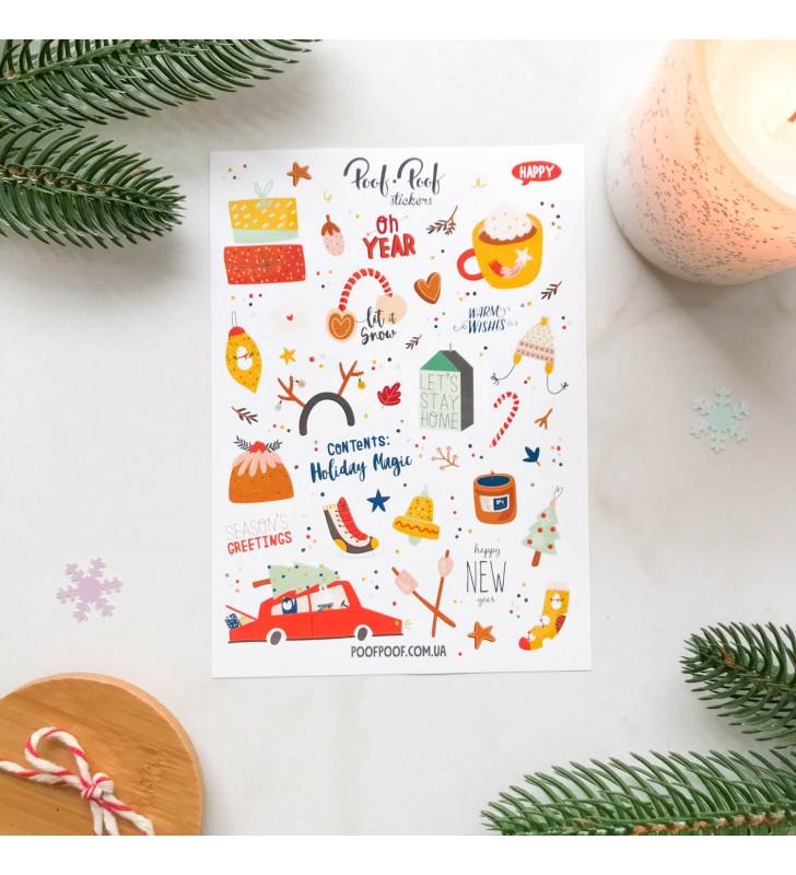"Наклейки ""Cutie winter"" Red car"