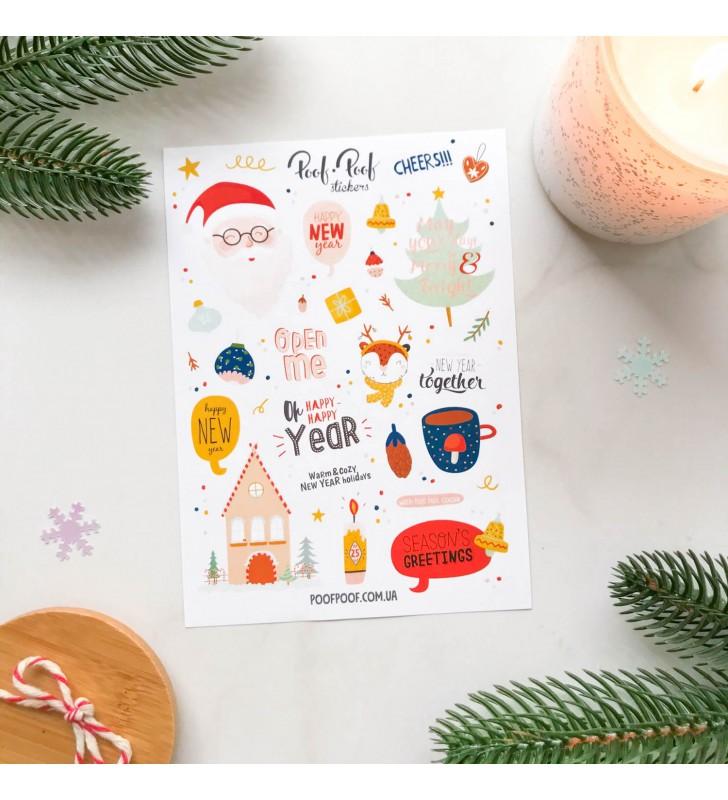 "Наклейки ""Cutie winter"" Santa"