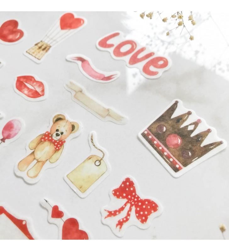 "Набор наклеек ""Love"" bear"