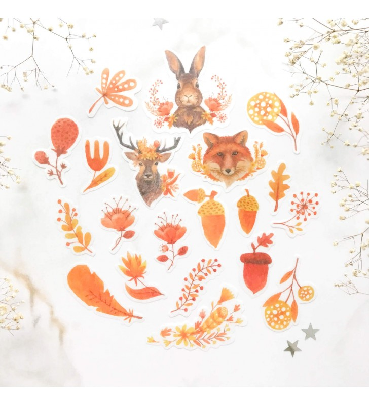 "Набор наклеек ""Autumn animals"""