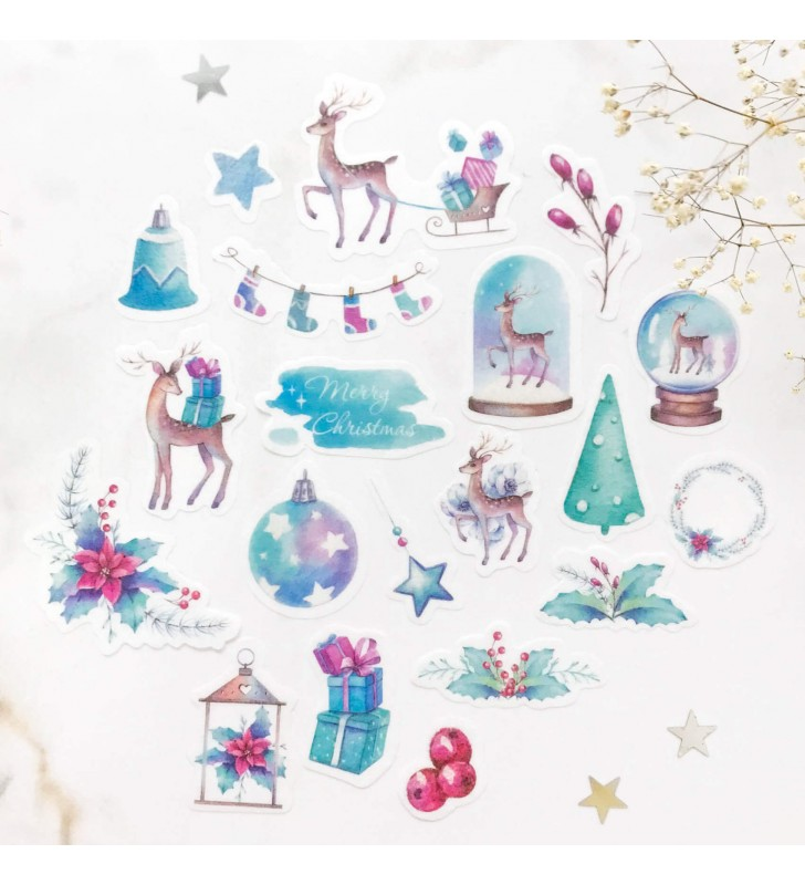 "Набор наклеек ""Christmas deer"""