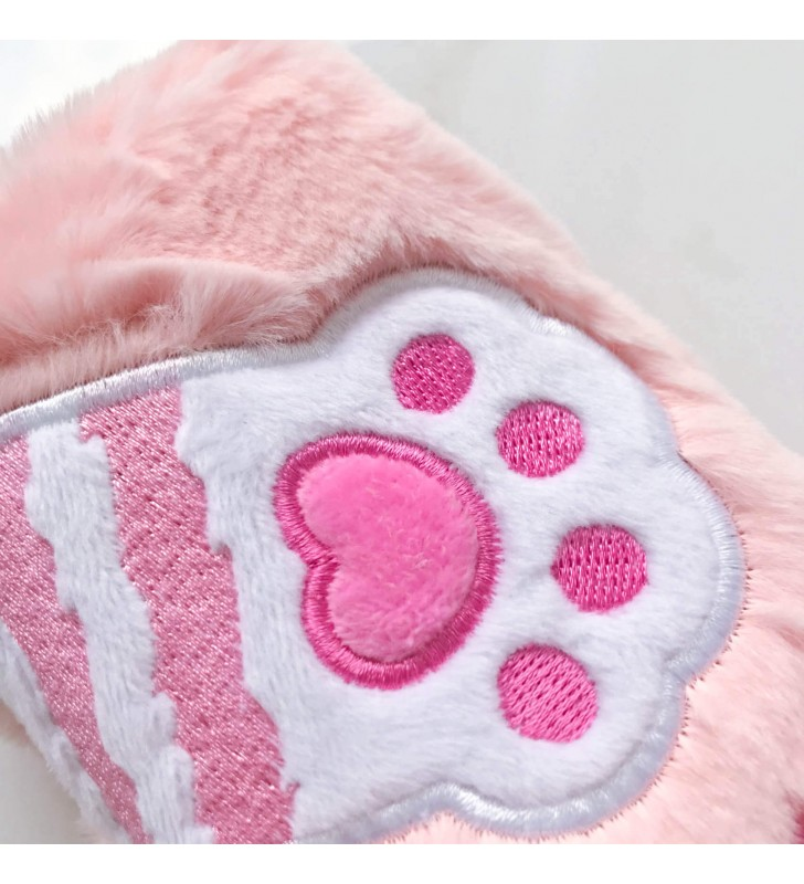 "Пенал ""Лапка котика"" розовый"