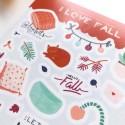 """Наклейки """"I love fall"""" Blankets"""