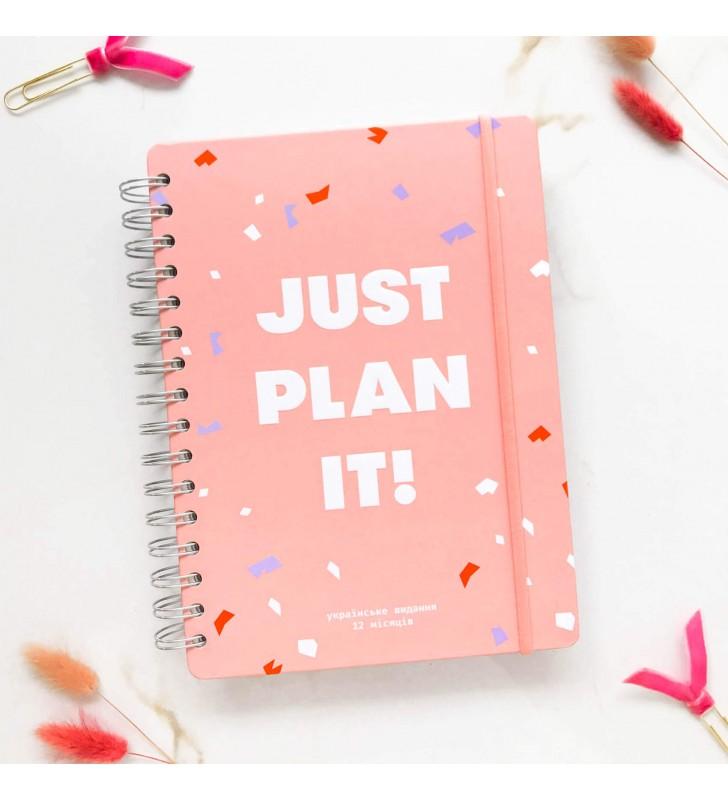 """Недельный планер """"Just plan it!"""" розовый"""