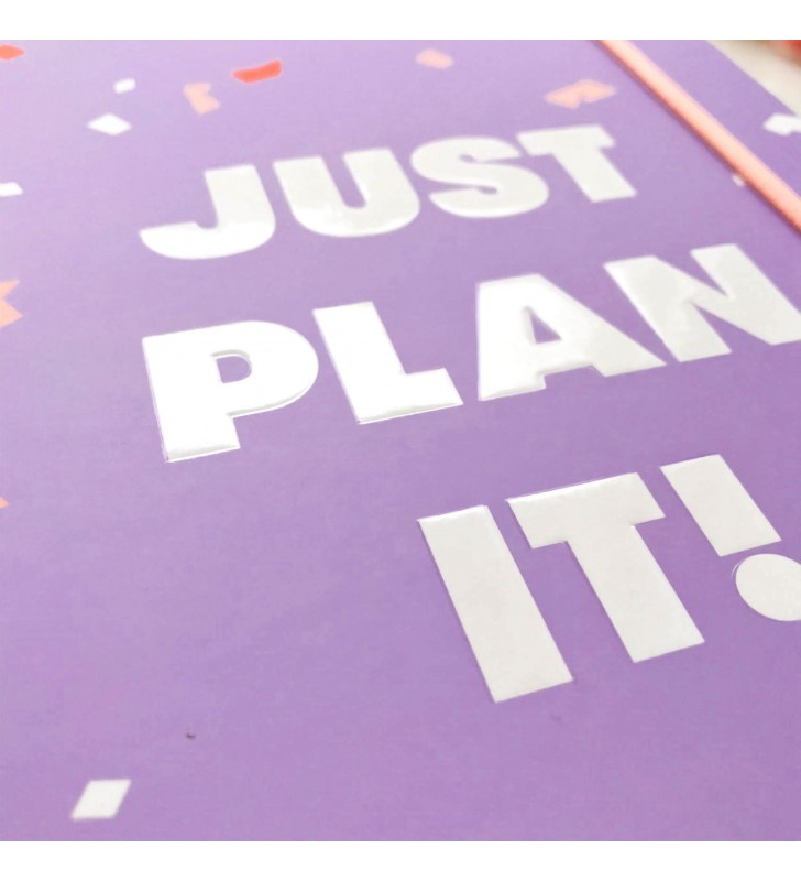"""Недельный планер """"Just plan it!"""" фиолетовый"""