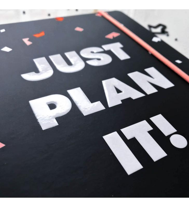 """Недельный планер """"Just plan it!"""" чёрный"""