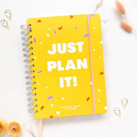 """Недельный планер """"Just plan it!"""" жёлтый"""