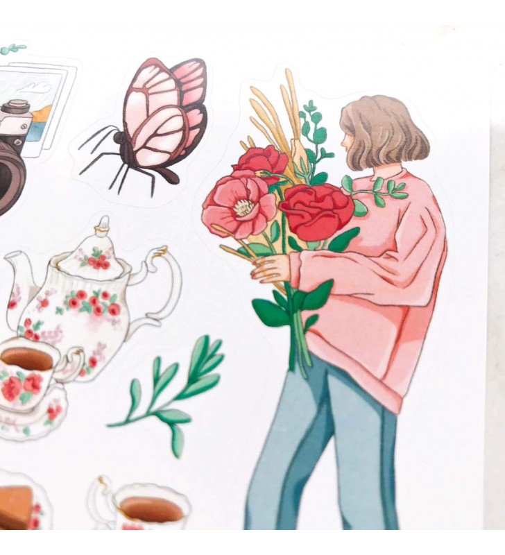 "Наклейки ""Pastel and bloom"""