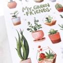 "Наклейки ""Green friends"""