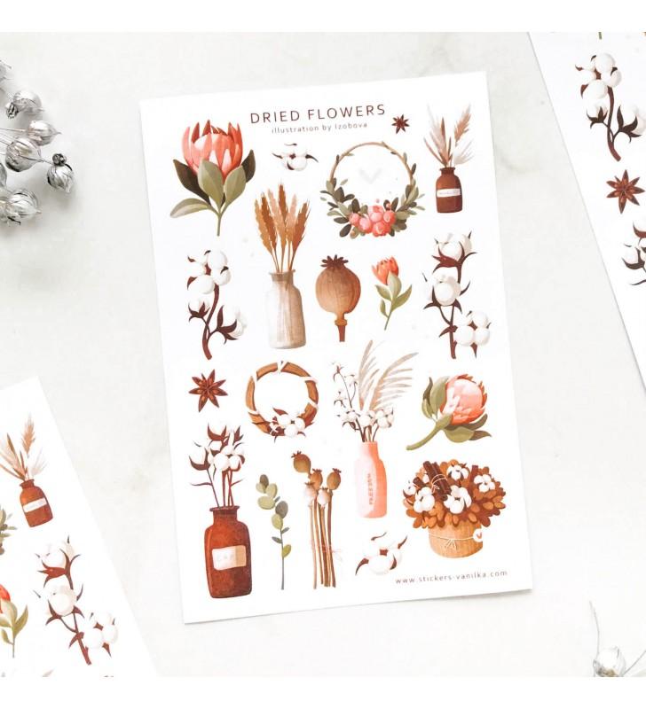 "Наклейки ""Dried flowers"""