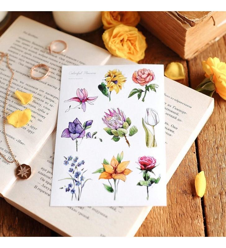 """Наклейки """"Colorful flowers"""""""