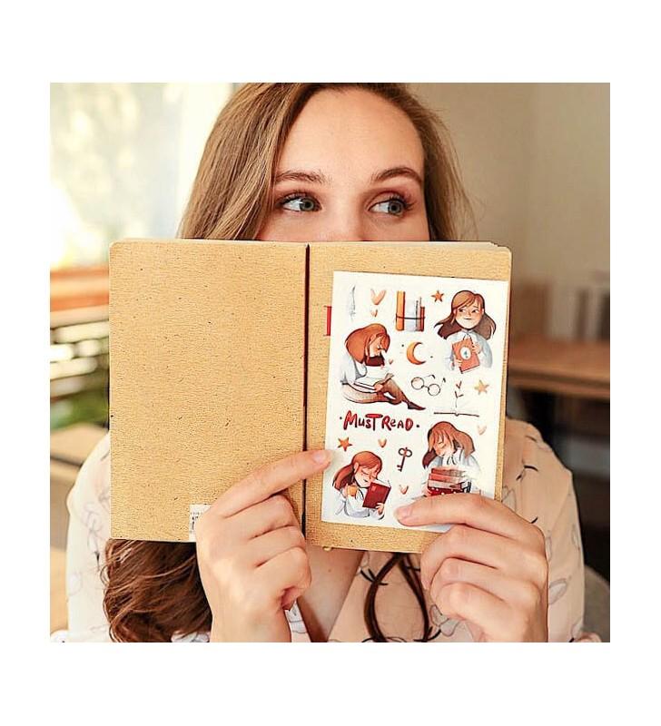 """Наклейки """"Chloe, love read"""""""