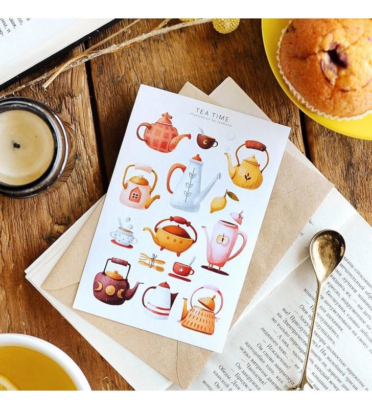 """Наклейки """"Teapots"""""""