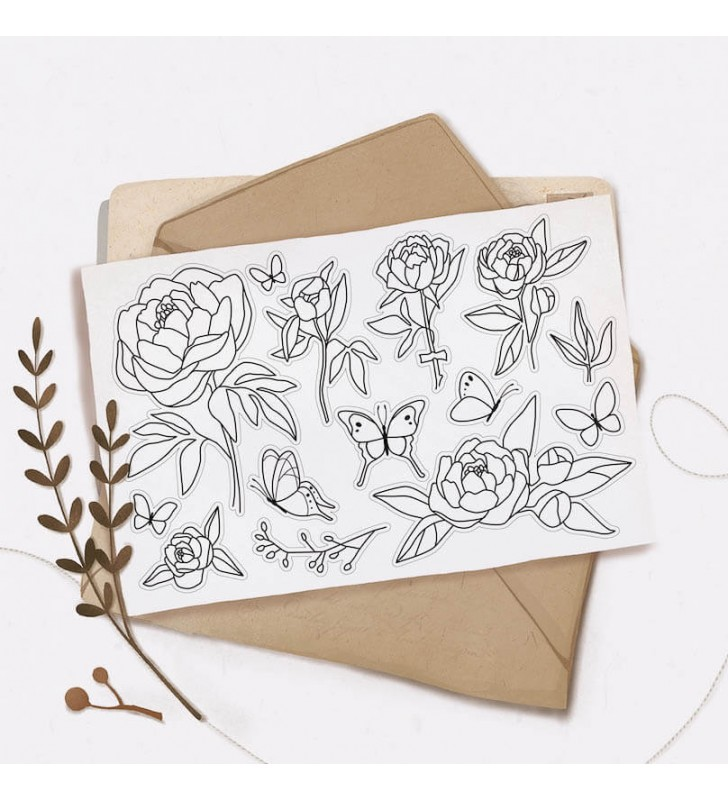 "Наклейки ""Flowers"" 10"