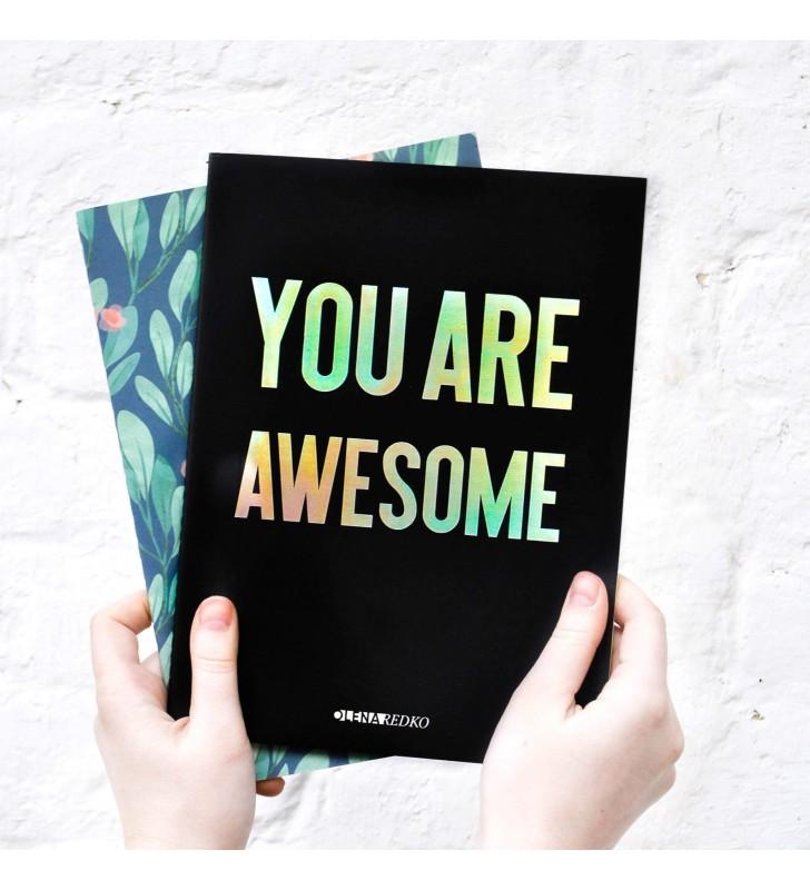 """Блокнот в линию """"Are you awesome"""""""