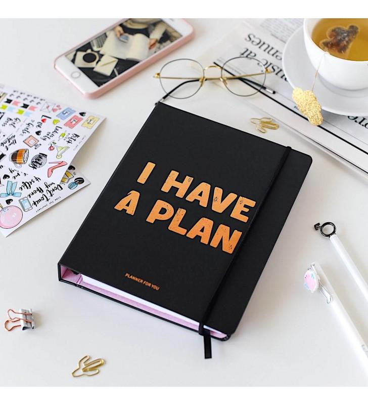 """Недельный планер """"I have a plan"""" черный"""