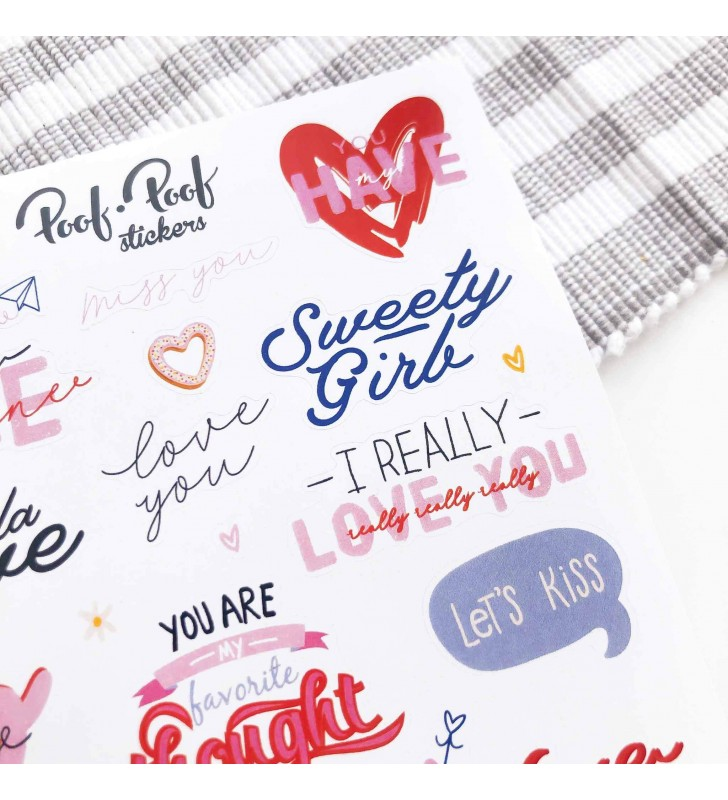 "Наклейки ""Love lettering"""