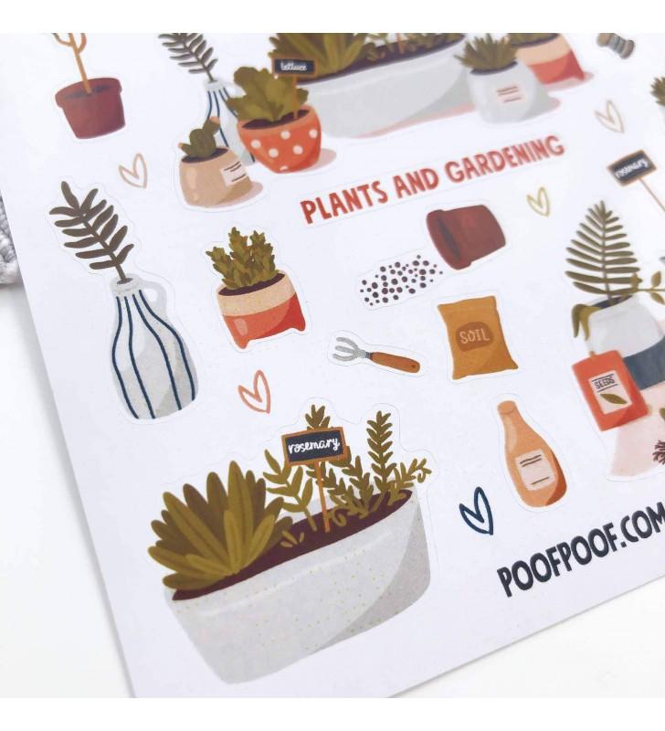 "Наклейки ""Plants and gardening"""