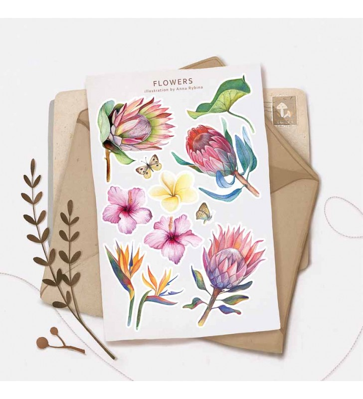 "Наклейки ""Flowers"" Protea"