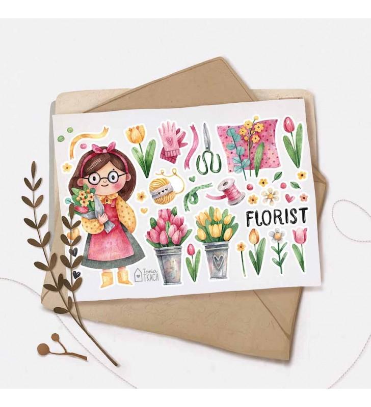 "Наклейки ""Флорист"""